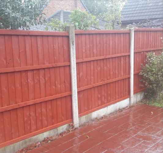 Fence stained by Liberty Outdoor Maintenance