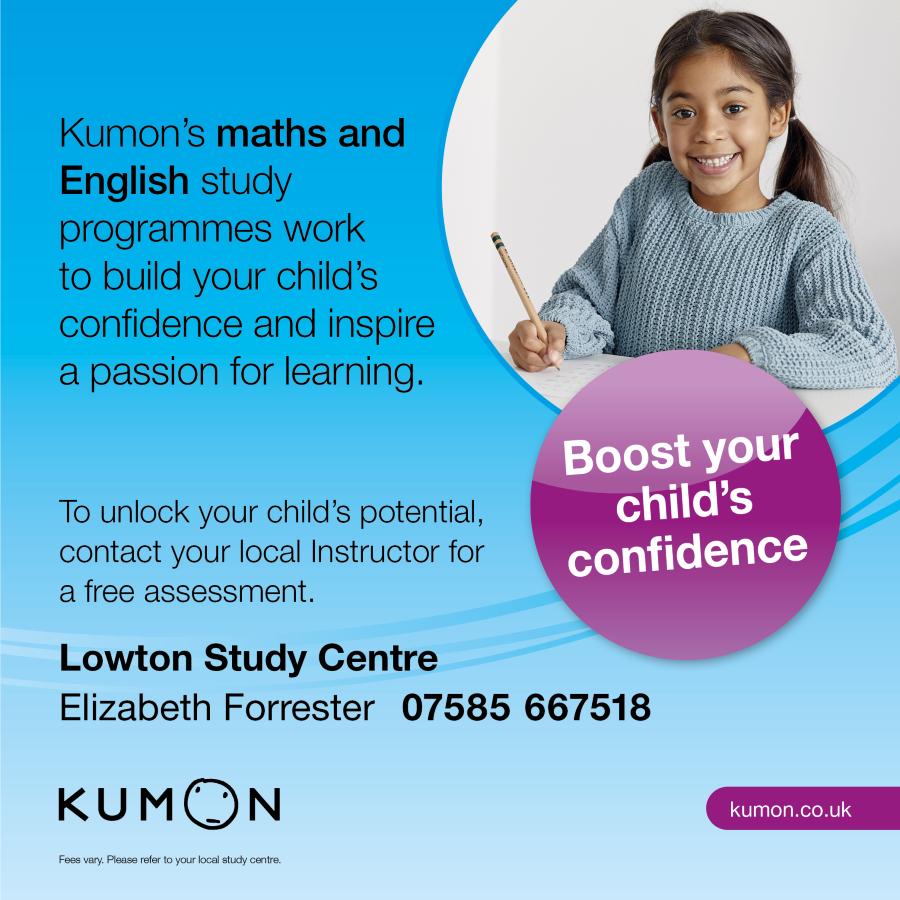 Kumon tutoring flier