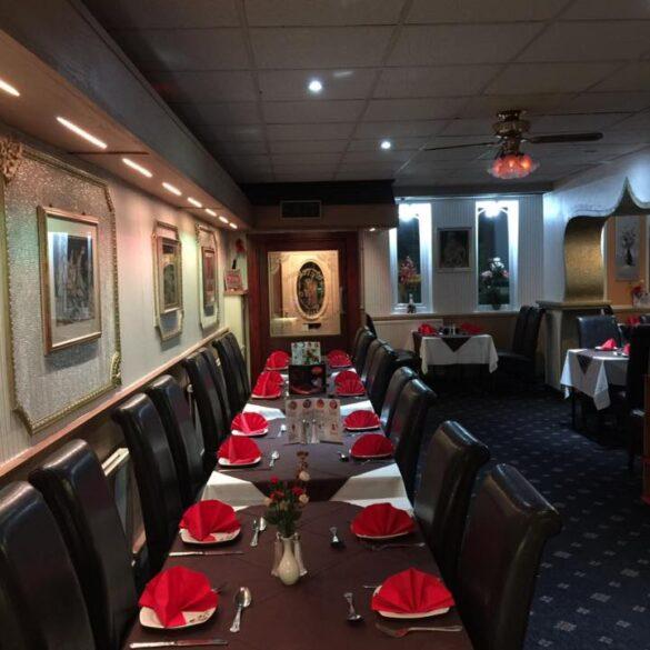 Inside Suhana Indian restaurant in Golborne