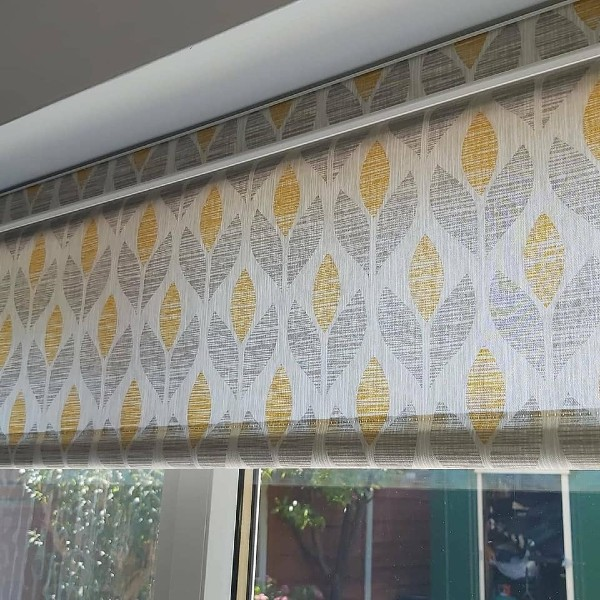 Roller blinds in a kitchen