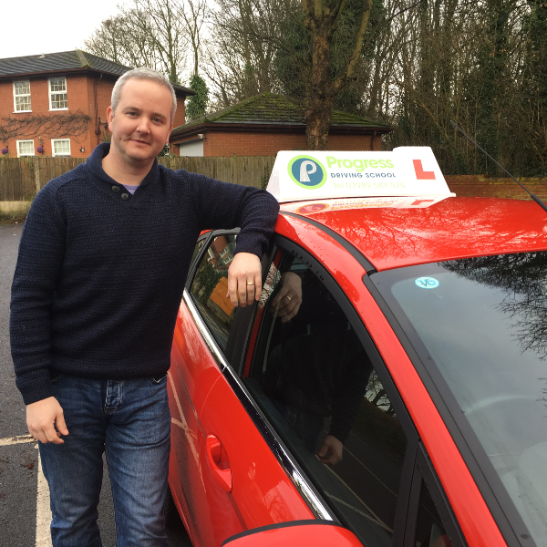 Driving instructor in Newton-le-Willows, Tony Melling of Progress Driving School