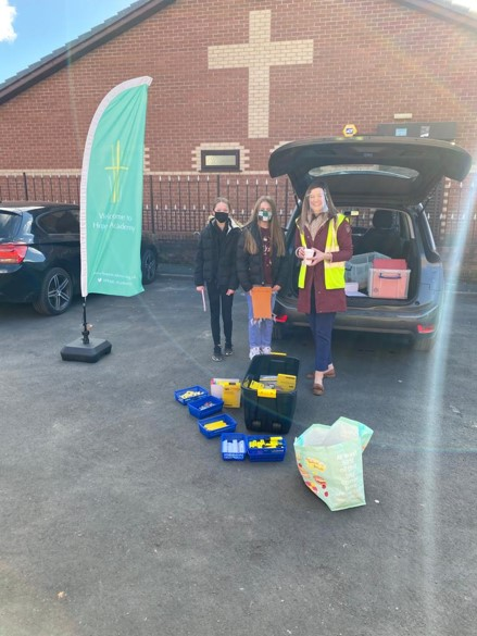 Hope Academy ran a 'resource bus' to keep pupils stocked up with essential supplies during home learning