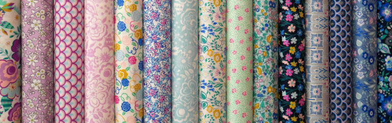 A selection of patterned fabrics