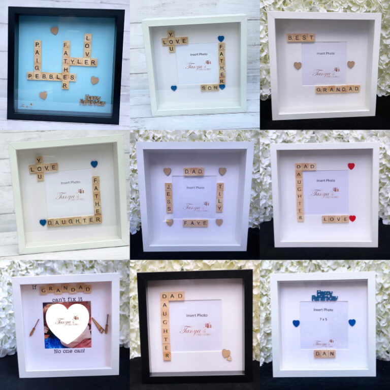 Fathers Day photo frame gifts from Tanya's Treasures