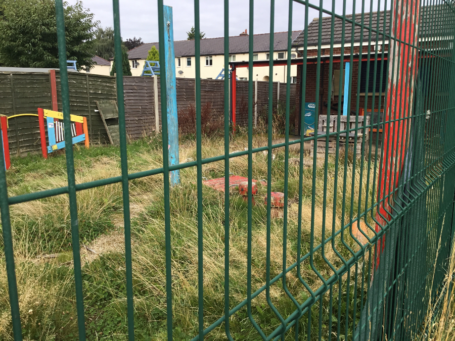 How the community garden at Wargrave Big Local looked before the land clearance.